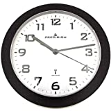 Precision PREC0061 Case Wall Clock, Black