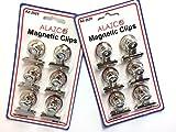 "12pc ALAZCO Refrigerator Magnet Clip 1"" wide Magnet /Clip"