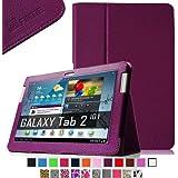 Fintie Slim Fit Folio Case Cover for Samsung Galaxy Tab 2 10.1 inch Tablet - Purple