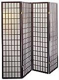 Legacy Decor 4-Panel Shoji Screen Room Divider, Cherry Finish 71