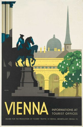 AUSTRIA Vintage Travel VIENNA Artwork 250gsm ART CARD Gloss A3 Reproduction Poster
