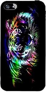 Snoogg Neon Tiger Outline 2669 Designer Protective Back Case Cover Forapple I...