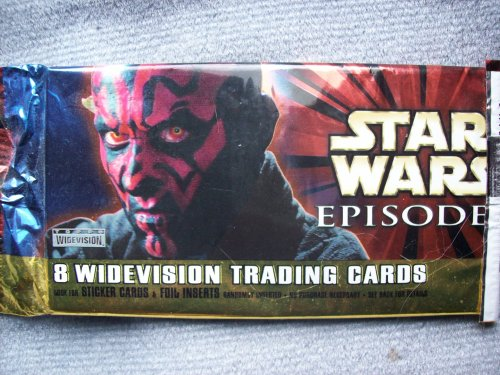 Star Wars Episode 1 Widevision Trading Card Pack - 8 cards per pack - Look for Embossed Foil & Chrome Inserts! - 1
