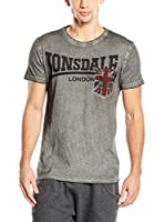 Lonsdale Camiseta Manga Corta Longfield (Gris)
