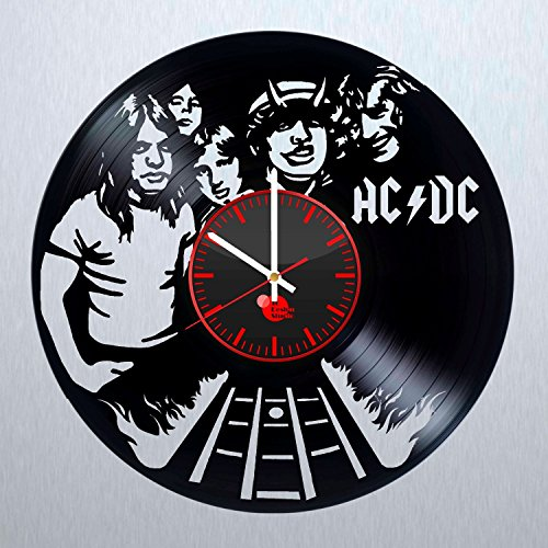 ACDC-Australian-Band-Handmade-Vinyl-Record-Wall-Clock-Fun-gift-Vintage-Unique-Home-decor-Art-Design-Retro-Interier