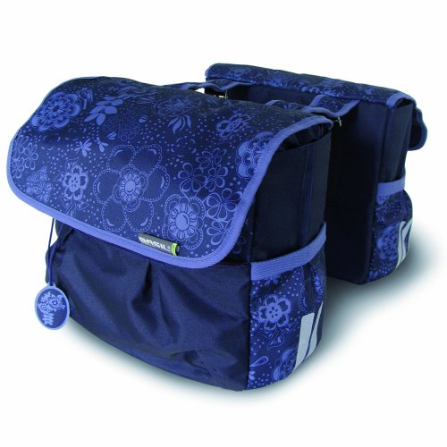 Basil Womens BASE7381 Double Bike Bag - Blueberry Purple