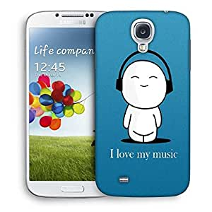 Snoogg I Love My Music Designer Protective Phone Back Case Cover For Samsung Galaxy S4