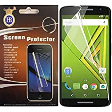 buy Warrior Wireless (Tm) For Motorola Droid Maxx 2 Moto X Play Clear Screen Protector + Bundle = (Item + Cellphone Stand) - By Thetargetbuys