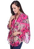 Hangqiao Elegant Women Soft Chiffon Butterfly Pattern Scarf Scarves