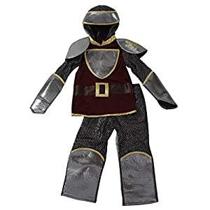 Silver & Burgundy Historic Knight Dress Up Set - Toddler & Kids (Choose Size)