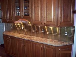 "6"" x 6"" Brushed Stainless Steel Metal Backsplash Tiles (50 ..."