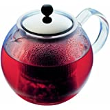 Assam Tea Press With Glass Handle And Stainless Steel Lid, 8 Cup, 34-Ounce