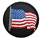 """Spare Tire Cover PVC Leather WaterProof Dust-proof Universal Spare Wheel Tire Cover Fit for Jeep,Trailer, RV, SUV and Many Vehicle 14"""" 15"""" 16"""" 17"""" DIY (17"""") (15"""" for diameter 27""""-29"""")"""