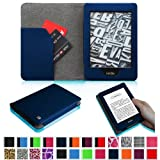 Fintie Kindle Paperwhite Premium Folio Case (Both 2012 and 2013 Versions with 6-inch Display and Built-in Light) Book Style with Auto Sleep/Wake Feature - Solid Navy