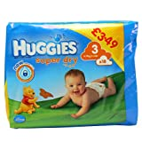 Huggies Super Dry Nappies size 3 x18