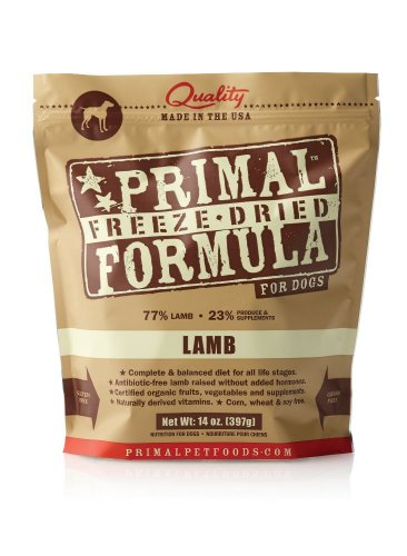 Primal Pet Foods Freeze-Dried Canine Lamb Formula
