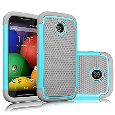 Motorola Moto E Case, Tekcoo(TM) [Tmajor Series] Shock Absorbing Hybrid Rubber Plastic Impact Defender Rugged Slim Hard Case Cover Shell For Motorola Moto E (1st Gen ONLY) from Tekcoo