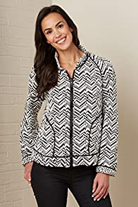 Janska Pepper Chevron Made in USA Zip Jacket