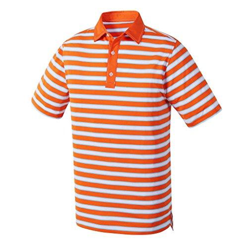 New FJ Stretch Lisle Polo Golf Shirt w/ Athletic Fit