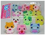 Cute Animal Erasers 6 Pc