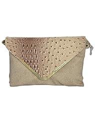 Bhawna Enterprises Leather Adjustable Strap Women's Handbag (BE_SMCR35, Cream)