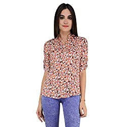 Terquois Printed Cotton Shirt(222_Pink_M)