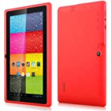 Arespark Ultrathin 7 inch 16GB Tablet PC,Google Android 4.4 KitKat OS, Allwinner A33 Quad Core CPU, 1024x600 Multi-touch Screen, Dual Camera, Wifi- Rosa