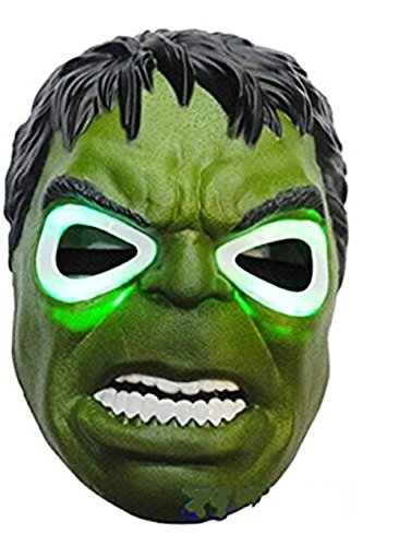 Halloween Incredible Hulk Light up Mask for Costume