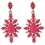 Shining Diva Fashion Non-Precious Metal Dangle & Drop Earings For Women Pink