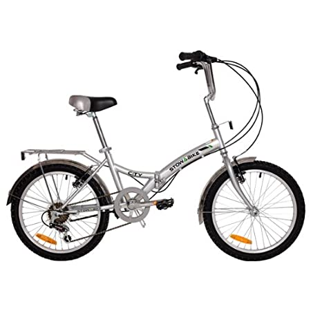 """Stowabike 20"""" Folding City V3 Compact Foldable Bike – 6 Speed Shimano Gears"""