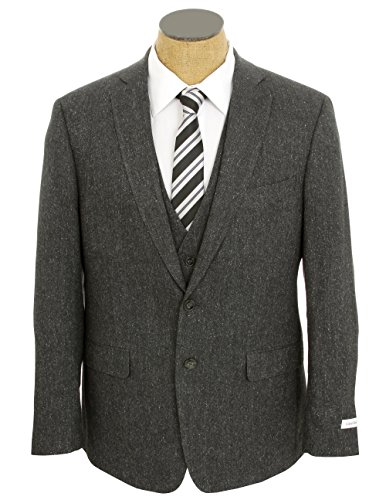 Calvin Klein Mens Charcoal Gray Extreme Slim Fit 3 Piece Wool Blend Suit- Size 42S