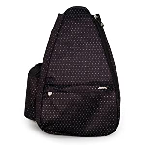 Buy Black Dot Small Sling Tennis Bag With Convertible Strap by Life Is Tennis