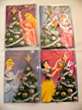 Set of 4 Disney Princess Christmas Greeting Cards - Snow White, Cinderella, Belle and