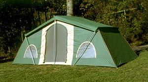 Buy Trek 10 x 20' 3-room Cabin Tent Green by Trek