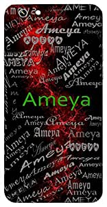 Ameya (Boundless, Magnanimous) Name & Sign Printed All over customize & Personalized!! Protective back cover for your Smart Phone : Apple iPhone 7