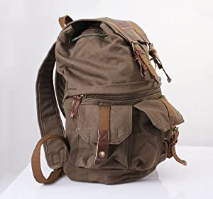 Koolertron Canvas DSLR SLR Camera Backpack  With Waterproof Cover