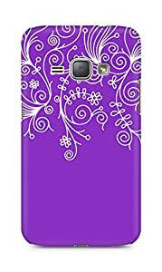 AMEZ designer printed 3d premium high quality back case cover for Samsung Galaxy J1 2016 SM-J120F (purple white design pattern abstract)