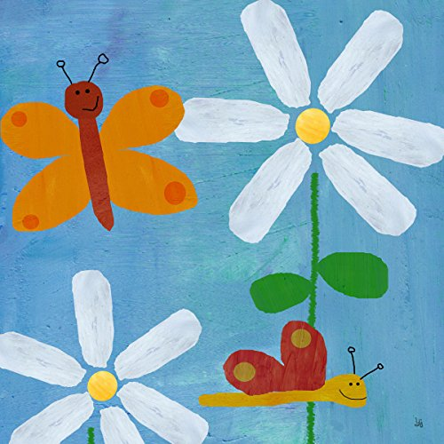 Green Leaf Art Little Butterflies Canvas Art
