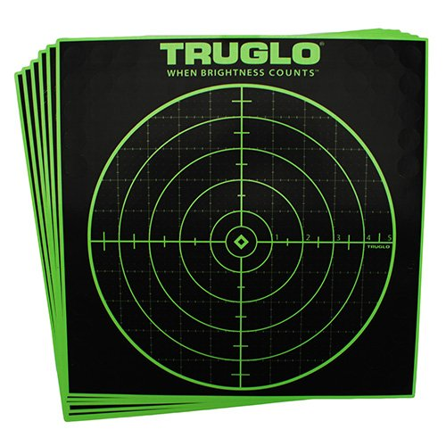 TruGlo 100 Yard Target, 12in. x 12in., 6 Pack TG10A6