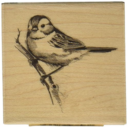 "Inkadinkado Mounted Rubber Stamp LL-Sparrow 2.25""X2.25"" - 1"