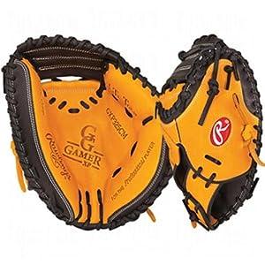 Rawlings Gold Glove Gamer XP 32.5-inch Catcher's Mitt (Black/Orange), Right-Hand Throw