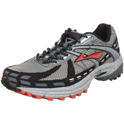 Brooks Men's Adrenaline Asr 7 Running Shoe,Birch/River Rock/Pavement/Aurora Red/Black,8 2E US