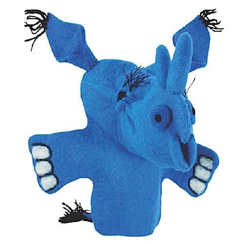 Wild Woolie Hand Puppet - Blue Rhino - 1