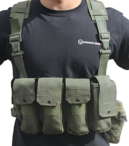 Ultimate Arms Gear Surplus Tzahal Zahal IDF Military OD Olive Drab Green Canvas Vest Harness Personal Load Carrying System PLCS