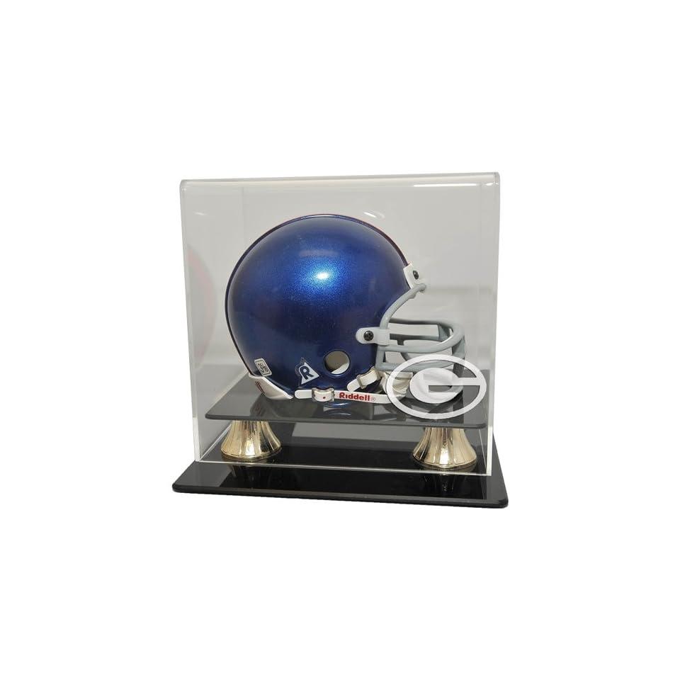 Green Bay Packers Mini Helmet Display Case   Coachs