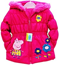 Peppa pig Cartoon Beautiful Girls Kids Warm Winter Jacket Coat Outwear