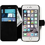 iPhone 6, 6s Wallet Case - Ultra Slim, Light Case - Apple iPhone 6, 6s (4.7) - Soft Black Leather (PU) - Credit Card ID Holder - Extra Strong Magnet - Travel Wallet - Luxury Protection for Cases