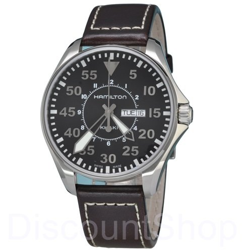 Hamilton Men's H64611535 Khaki King Black Dial Watch