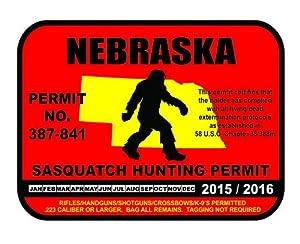 Nebraska sasquatch hunting permit license for Nebraska fishing license