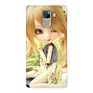 Stylish Cute Smiling Doll Multicolor Back Case Cover for Huawei Honor 7